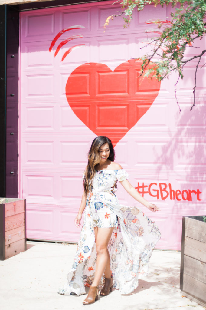 pink garage door red heart chicago #gbheart