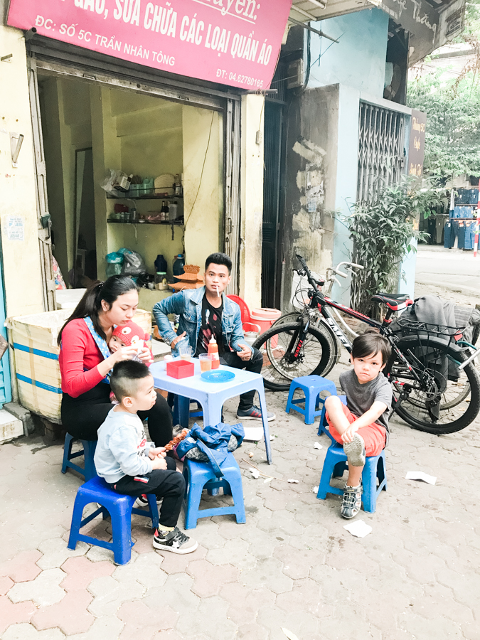 family of five traveling with kids to vietnam