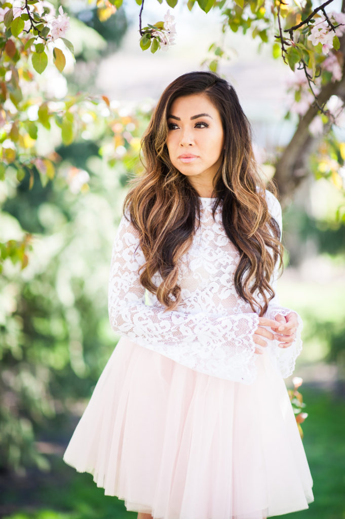 bliss tulle Hayley skirt and Audrey lace top