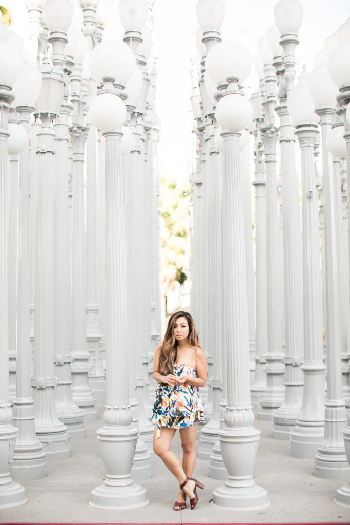 Los Angeles petite fashion blogger urban lights lacma