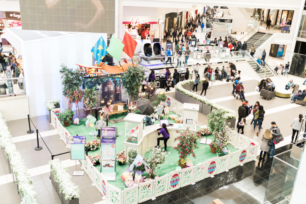 easter bunny experience at Woodfield shopping mall